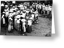 Vintage Workers Greeting Card