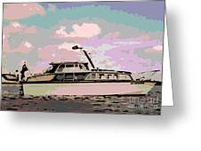 Vintage Yacht Greeting Card