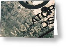 Violators Greeting Card