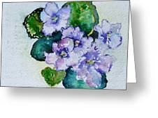 Violet Cluster Greeting Card
