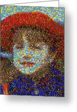 Violet Gumballs Greeting Card