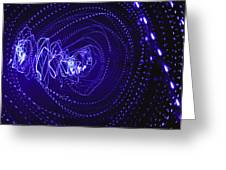 Violet Neon Lights 2 Greeting Card