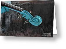 Violinelle - Turquoise 05a2 Greeting Card