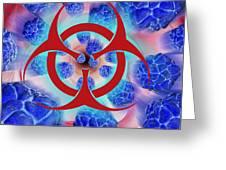 Viral Pathogens, Conceptual Artwork Greeting Card