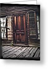 Virginia City Ghost Town Door I Greeting Card