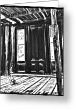 Virginia City Ghost Town Door II Greeting Card