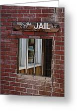 Virginia City Nevada Jail Greeting Card