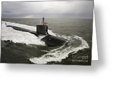 Virginia-class Attack Submarine Greeting Card by Stocktrek Images