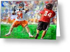 College Lacrosse 10 Greeting Card