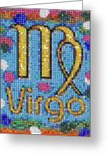 Virgo Zodiac Mosaic Greeting Card