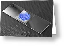 Virus On Microscope Slide Greeting Card