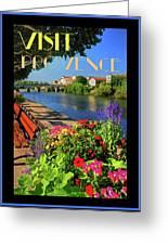 Visit Provence Poster Greeting Card