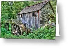 Visiting The Old Mill Greeting Card