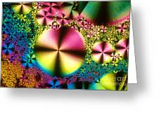 Vitamin B1 Crystal Greeting Card