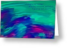 Vivid Wind Haiku Greeting Card