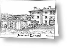 Vizcaya For Jane And Edward Greeting Card