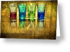 Vodka Glasses Greeting Card by Svetlana Sewell