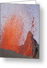 Volcanic Eruption, Spatter Cone Greeting Card