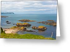 Volcanic Rock Formations In Ballintoy Bay Greeting Card