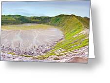 Volcano Crater Greeting Card
