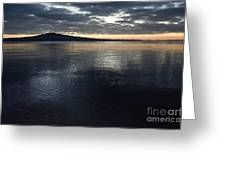 Volcano Just Before Sunrise Greeting Card