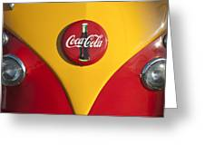 Volkswagen Vw Bus Coco Cola Emblem Greeting Card