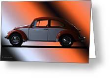 Volkswagon Bug Greeting Card