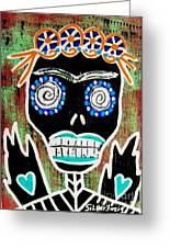 Voodoo Queen Sugar Skull Angel Greeting Card