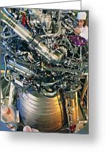 Vulcain Engine Designed For Ariane 5 Launcher Greeting Card