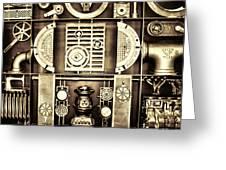 Vulcan Steel  Steampunk Metalworks Greeting Card
