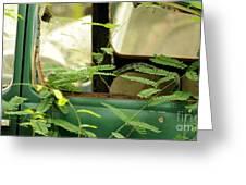 Vw Bug Going Green Greeting Card