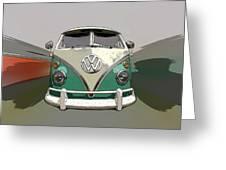 Vw Bus Art Greeting Card