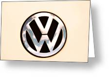 Vw Emblem Greeting Card