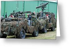 Vw Iltis Jeeps Of A Recce Scout Unit Greeting Card