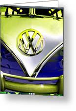 Vw Variations In Blue Greeting Card