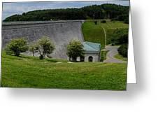 Wachusett Dam Panoramic Greeting Card