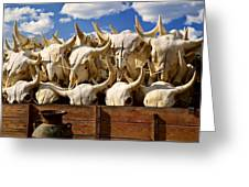 Wagon Full Of Animal Skulls Greeting Card by Garry Gay
