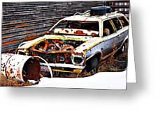 Wagon Of Rust Greeting Card