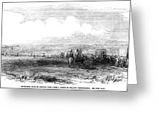 Wagon Train, 1859. For Licensing Requests Visit Granger.com Greeting Card