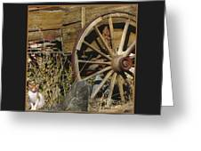 Wagon Wheel Cat Greeting Card