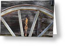 Wagon Wheel Detail Greeting Card