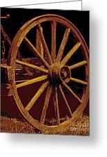 Wagon Wheel In Sepia Greeting Card
