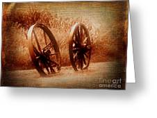 Wagon Wheels Greeting Card