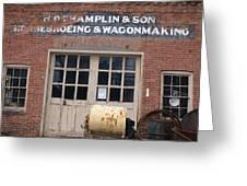 Wagonmaking Greeting Card