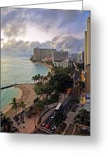 Waikiki At Twilight Greeting Card