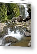 Wailua Falls And Rocks Greeting Card