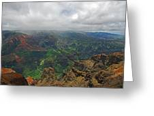 Waimea Canyon Weather Greeting Card