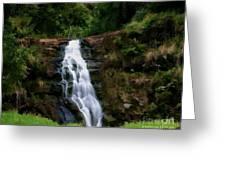Waimea Valley Falls Greeting Card