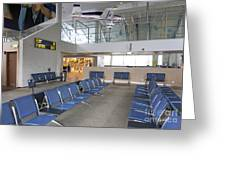 Waiting Area At An Airport Gate Greeting Card by Jaak Nilson