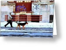 Walk On The Cold Side Greeting Card